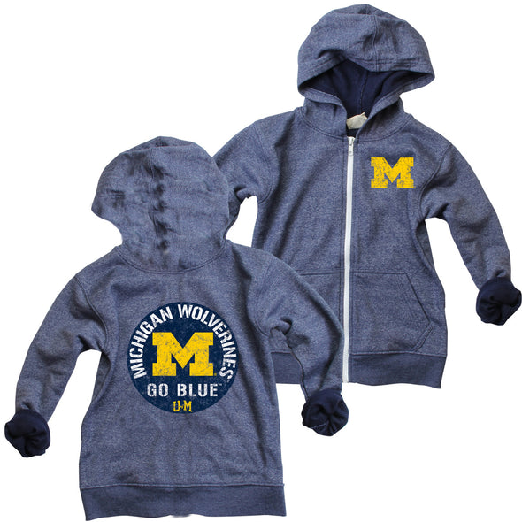 Wes & Willy Michigan Wolverines Infant's Zip Hoodie