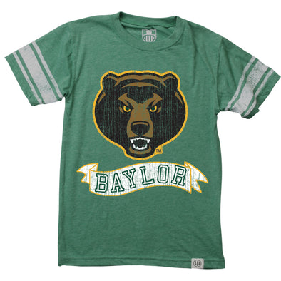 Wes & Willy Baylor Bears Boy's Sleeve Stripe Tee