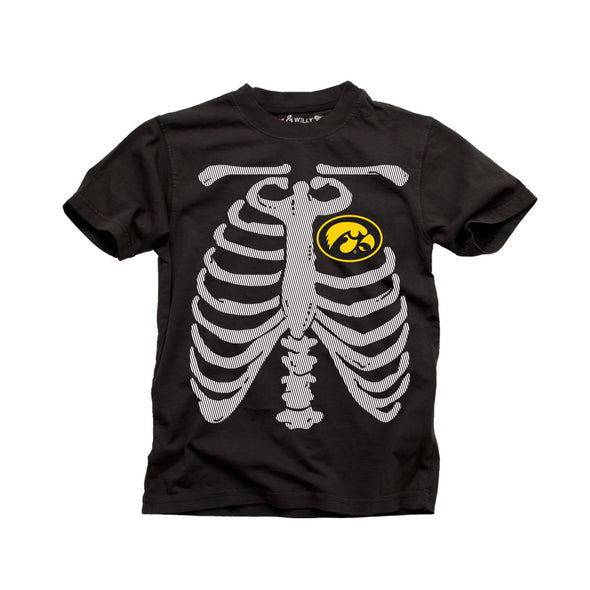 Wes & Willy Iowa Hawkeyes Glow in the Dark Tee