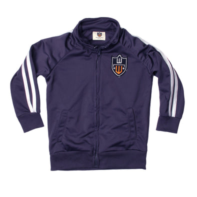 Wes & Willy Boy's Navy Performance Track Jacket