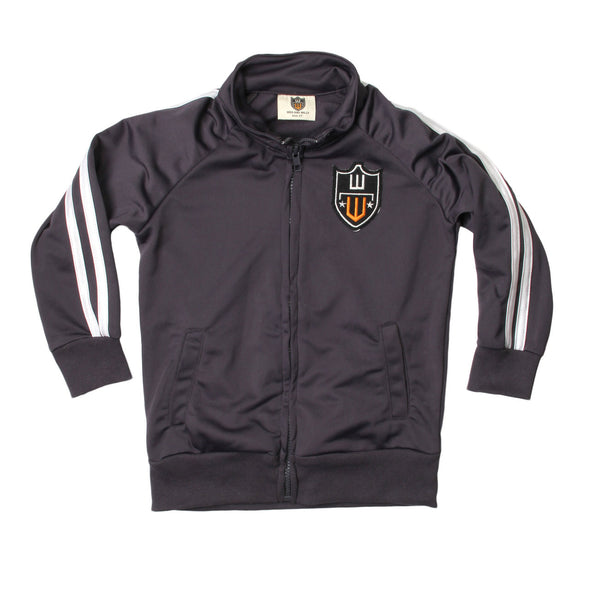 Wes & Willy Boy's Gray Performance Track Jacket