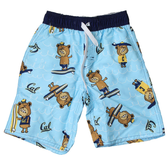 Wes & Willy California Golden Bears Caricature Swim Trunk