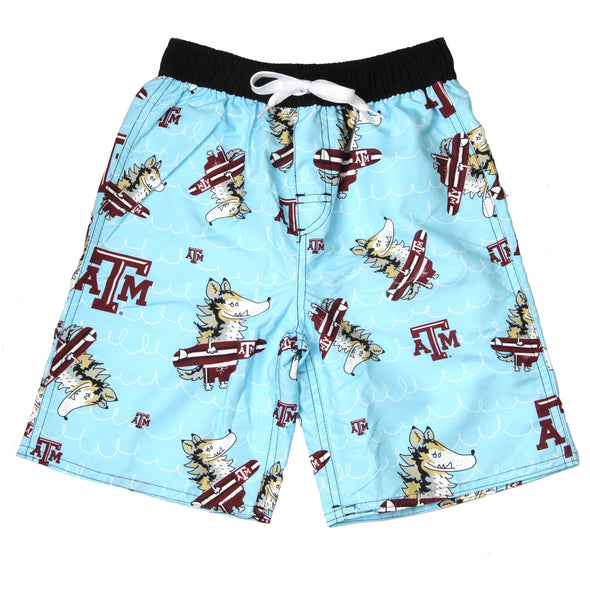 Wes & Willy Texas A & M Aggies Caricature Swim Trunk