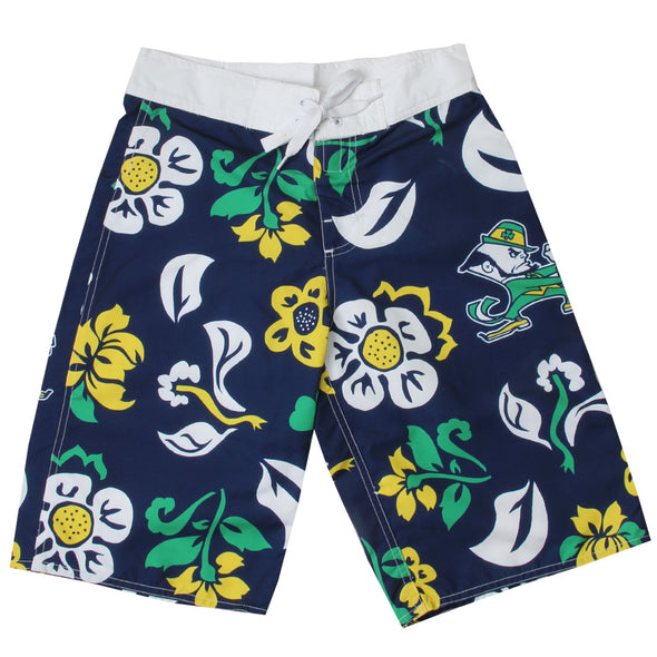 Wes & Willy Boy's Floral Boardshort/Notre Dame Fighting Irish