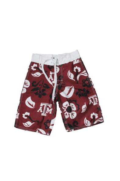 Wes & Willy Texas A&M Aggies Boy's Floral Boardshort