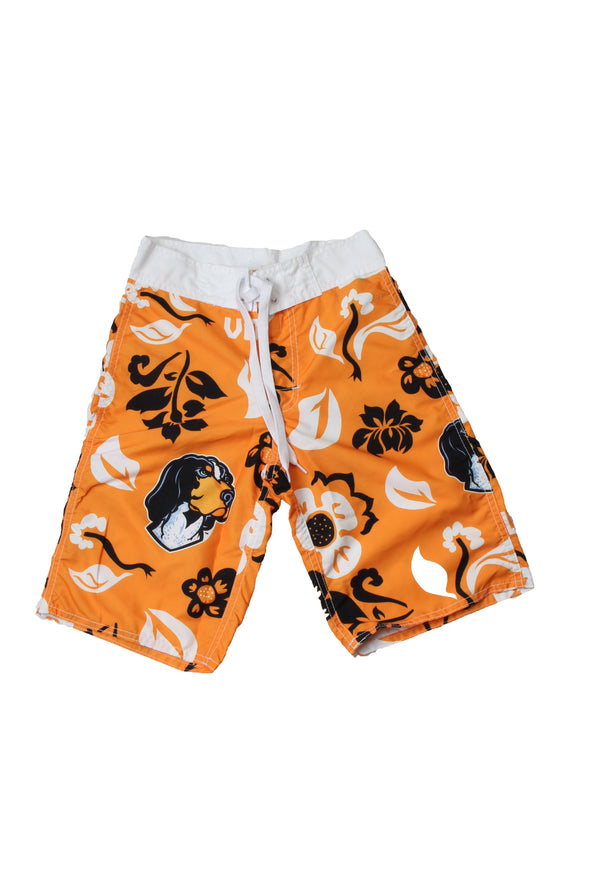 Wes & Willy Tennessee Volunteers Boy's Floral Board Short