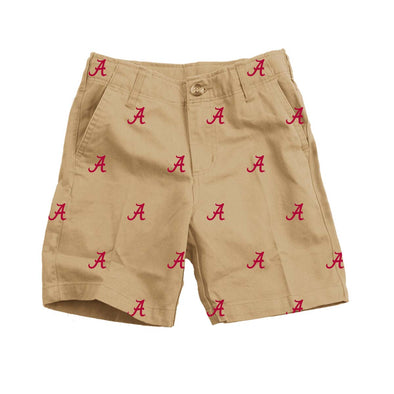 Wes & Willy Alabama Crimson Tide Embroidered Twill Short
