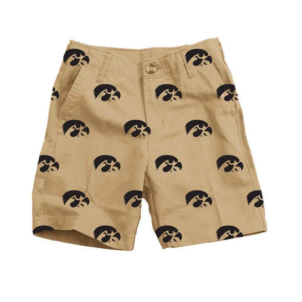 Wes & Willy Iowa Hawkeyes Embroidered Twill Short