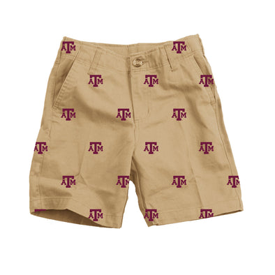 Wes & Willy Texas A&M Aggies Embroidered Twill Short