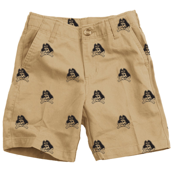 Wes & Willy ECU Pirates Boy's Embroidered Twill Short