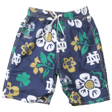 Wes & Willy Boy's Notre Dame Fighting Irish Floral Volley Trunk