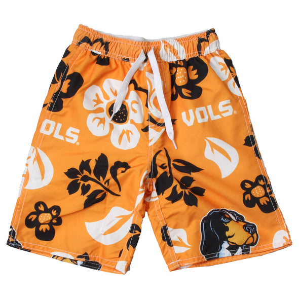 Wes & Willy Tennessee Volunteers Boy's Floral Swim Trunks