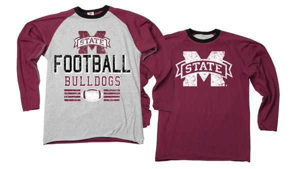 Wes & Willy Mississippi State Bulldogs Boy's Inside Out Tee