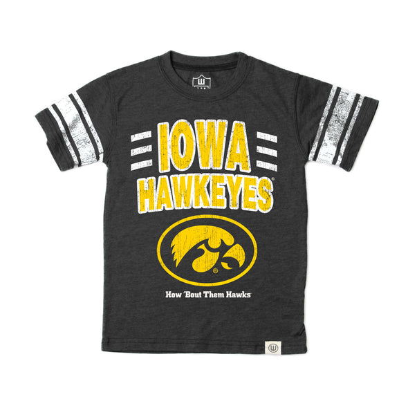 Wes & Willy Iowa Hawkeyes Boy's Sleeve Stripe Tee