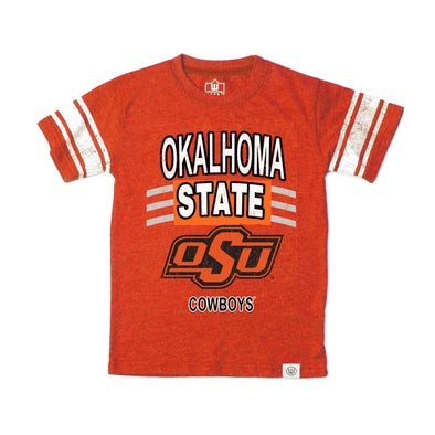 Wes & Willy Oklahoma State Cowboys Boy's Sleeve Stripe Tee