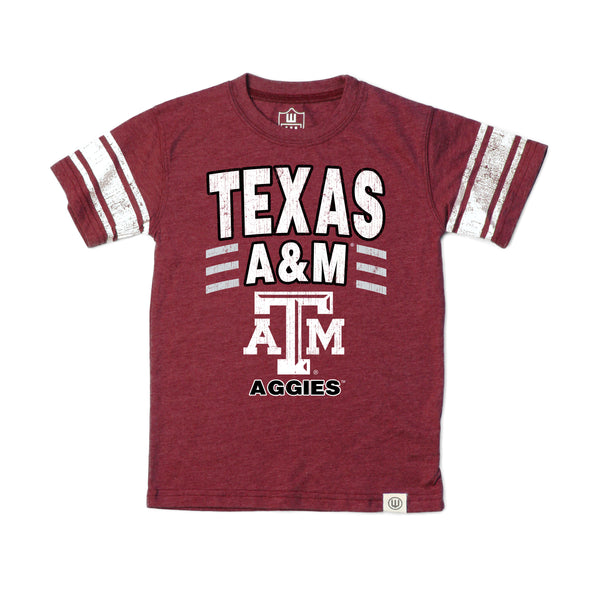 Wes & Willy Texas A&M Aggies Boy's SS Tee