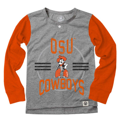 Wes & Willy Oklahoma State Cowboys Boy's LS Henley