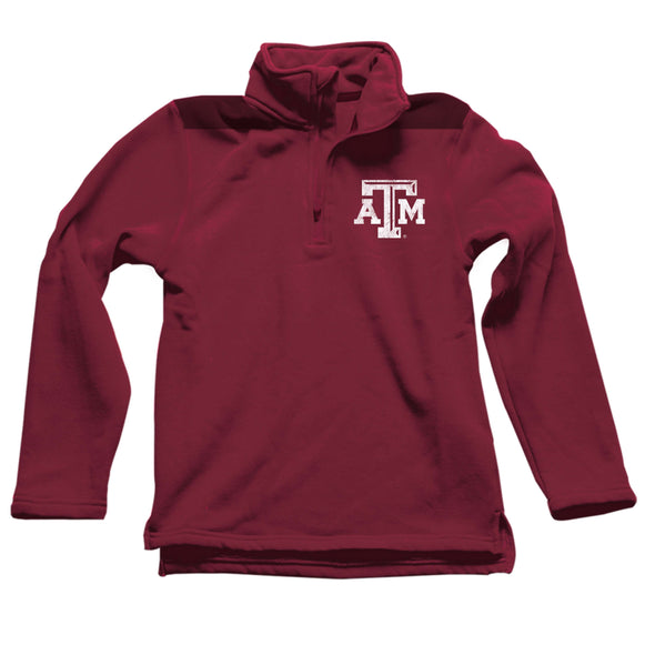 Wes & Willy Texas A&M Aggies Boy's Fleece 1/4 Zip