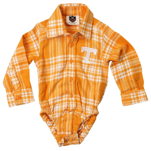 Wes & Willy Tennessee Volunteers Infant's Plaid Bodysuit