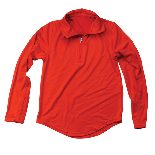 Wes & Willy Boy's Red Performance Pullover