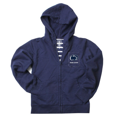 Wes & Willy Penn State Nittany Lions Lined Fleece Full Zip Hoodie