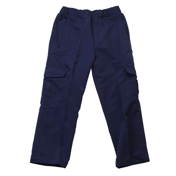Wes & Willy Boy's Navy Pull On Cargo Pant