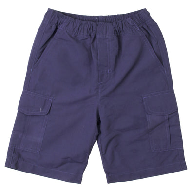 Wes & Willy Boy's Microfiber Cargo Shorts-Navy