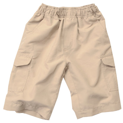 Wes & Willy Boy's Microfiber Cargo Shorts-Sand