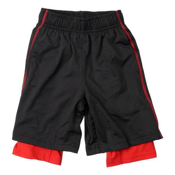 Wes & Willy Boy's Lined Performance Short--Black