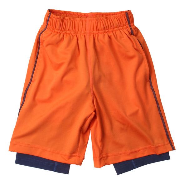 Wes & Willy Boy's Lined Performance Short--Orange