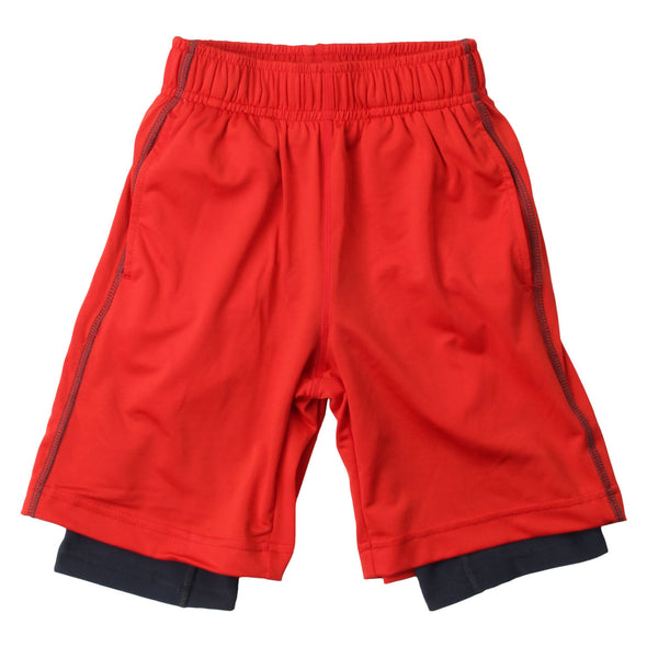 Wes & Willy Boy's Lined Performance Short--Red