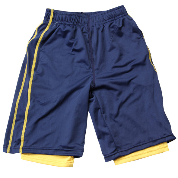 Wes & Willy Boy's Lined Performance Short--Navy