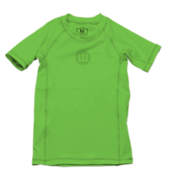 Wes & Willy Boy's Short Sleeve Rashguard-Green