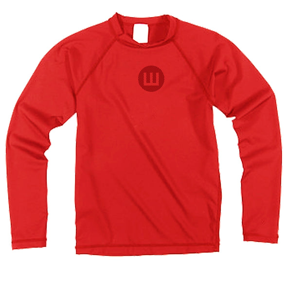 Wes & Willy Boy's Long Sleeve Rashguard-Red