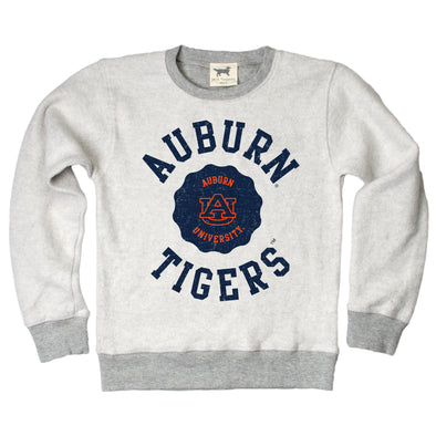 Wes & Willy Auburn Tigers Boy's Reverse Fleece Crew