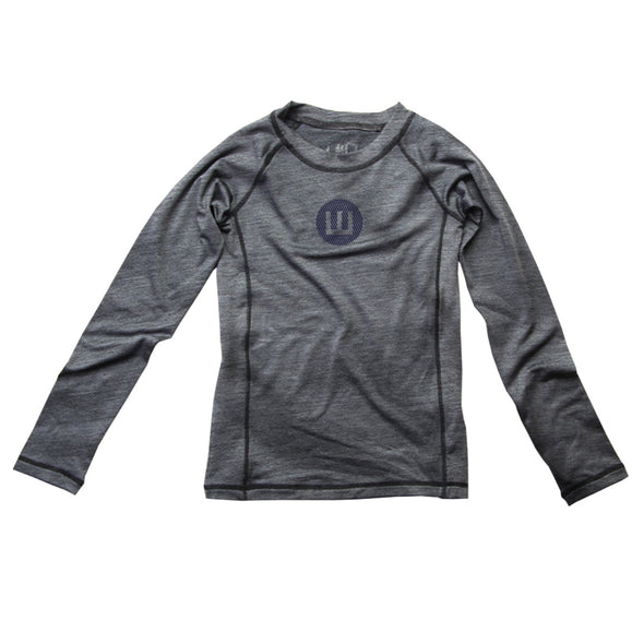 Wes & Willy Boy's L/S Sun Safe Rash Guard-Dark Grey
