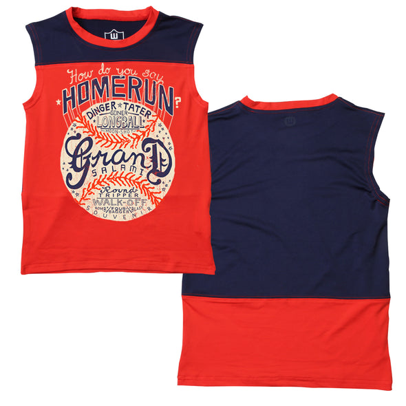 Wes & Willy Boy's Homerun Performance Muscle Tee