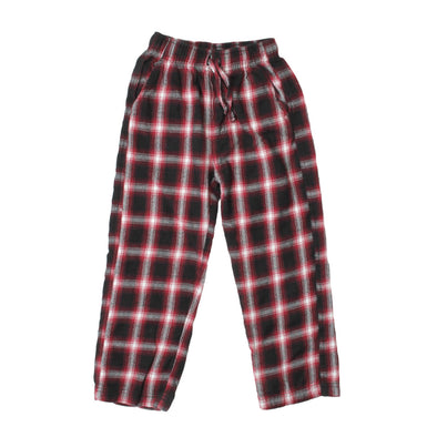 Wes & Willy Boy's Wine Plaid Pant