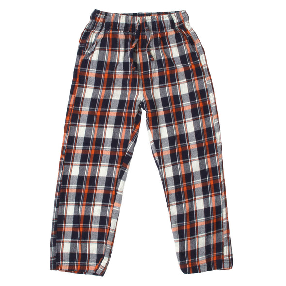 Wes & Willy Boy's Orange Crush Plaid Pant
