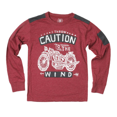 Wes & Willy Boy's Caution to the Wind Tee