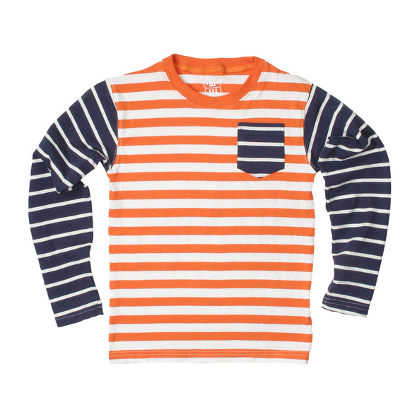 Wes & Willy Boy's Multi Stripe Long Sleeve Tee