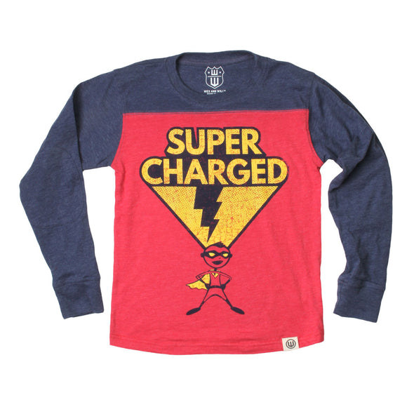 Wes & Willy Boy's Super Charged Contrast Long Sleeve Tee