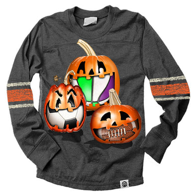 Wes & Willy Boy's Sporty Pumpkin Mid Sleeve Stripe