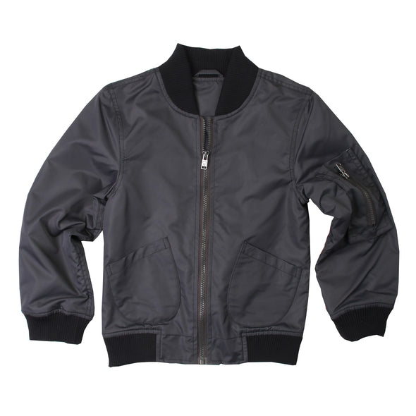 Wes & Willy Black Nylon Jacket