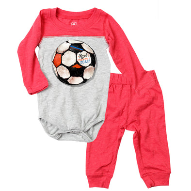 Wes & Willy Infant's Soccer Ball Bodysuit Set