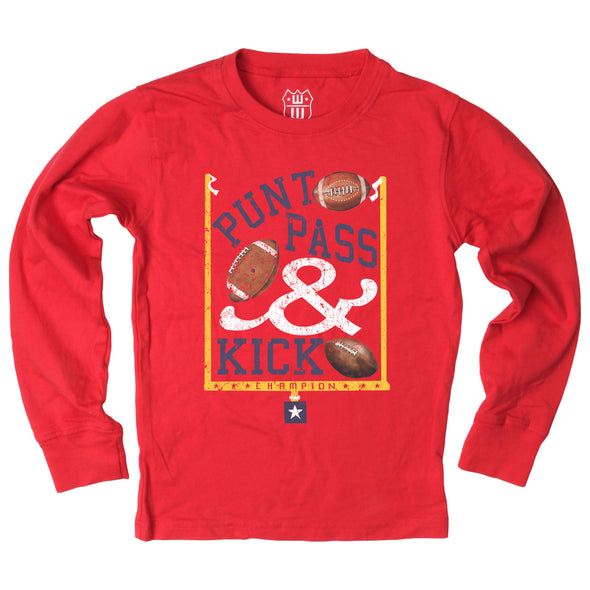 Wes & Willy Boy's Punt Pass & Kick Graphic Tee