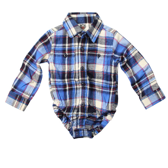 Wes & Willy Blue Moon Plaid Hopper