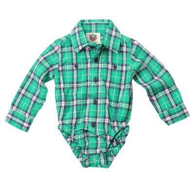 Wes & Willy Infant's Irish Plaid Bodysuit