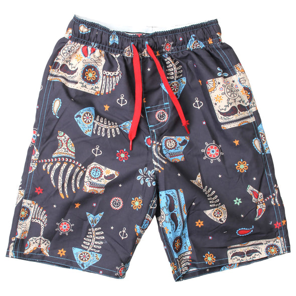 Wes & Willy Boy's Sugar Skull Swim Trunk