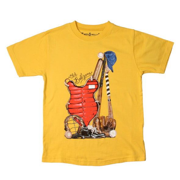 Wes & Willy Baseball Gear Tee-Yellow